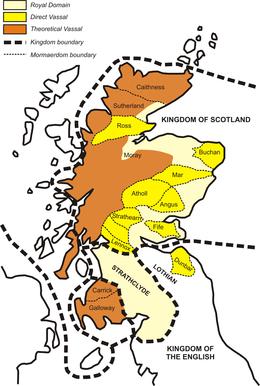 Cartina Geografica Della Scozia.Regno Di Scozia